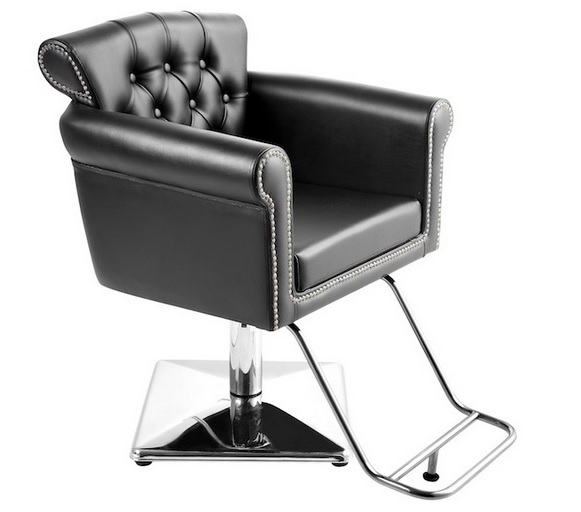 Usf 0906 styling chair with square base sofia salon for Salon furniture canada