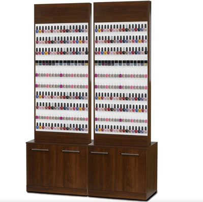 Paris Nail Polish Rack With Or Without Base Cabinet