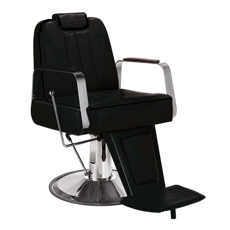 Titus Barber Chair With Headrest Black Salon Furniture