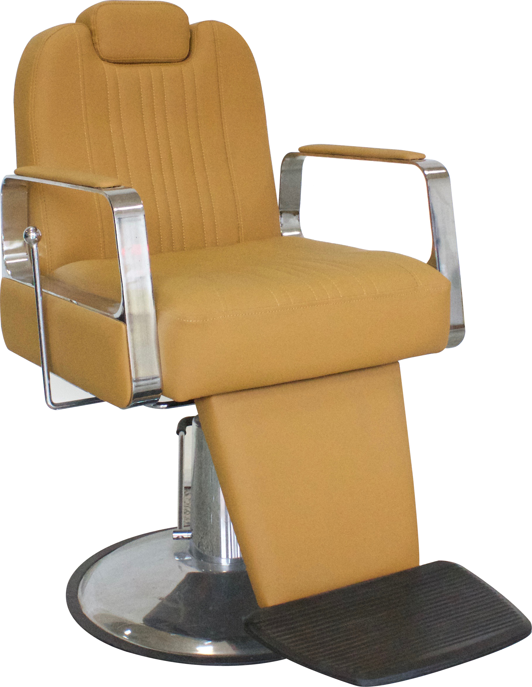 Titus Barber Chair With Headrest Black Salon Furniture