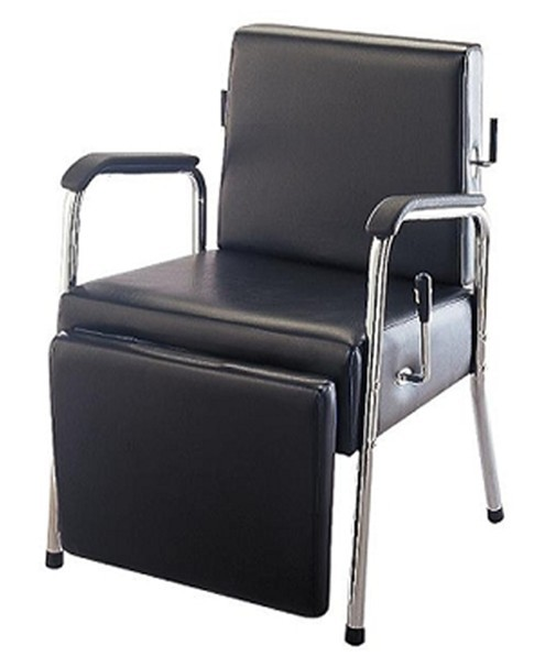 Reclining shampoo chair with footrest salon furniture for Salon furniture canada