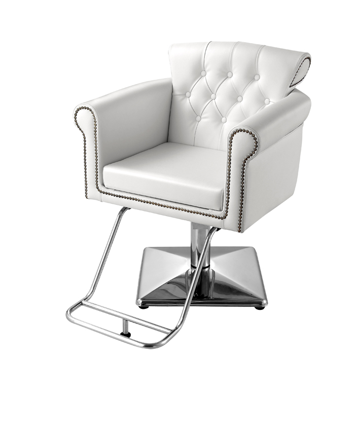 Usf 0906 styling chair with square base sofia white for Salon furniture canada